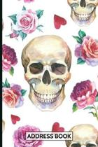 Address Book: Organizer and Notes with Alphabetical Tabs Floral Skulls Cover
