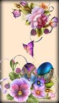 Diamond painting - vlinders paars - sierlijk - 30x48cm
