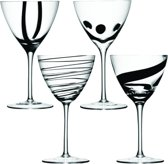 LSA Jazz - Wijnglazen - Set van 4 Stuks - Transparant