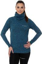 Brubeck | Dames Outdoor Trui / Sweater - outdoortrui - Turquoise Melange - Maat S