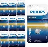 10 Stuks - Philips LR44/76A 1.5v Alkaline knoopcel batterij