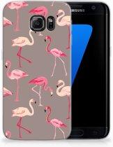 Samsung Galaxy S7 Edge Uniek TPU Hoesje Flamingo