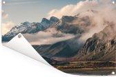 Berglandschap van het Nationaal park Los Glaciares in Santa Cruz Tuinposter 180x120 cm - Tuindoek / Buitencanvas / Schilderijen voor buiten (tuin decoratie) XXL / Groot formaat!