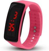 LED Sporthorloge - Digitaal Horloge - Kinderen - Rubber - Roze - Ø 20 mm