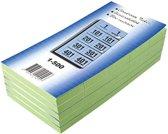 19x Garderobeblokken nummers van 1 t.e.m. 500, groen