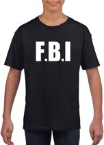 FBI tekst t-shirt zwart kinderen M (134-140)