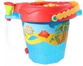 Free And Easy Strandset Beach Toys 28 Cm Blauw 9-delig