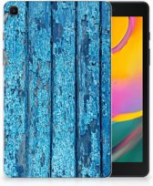 Samsung Galaxy Tab A 8.0 (2019) Silicone Tablet Hoes Blauw Wood