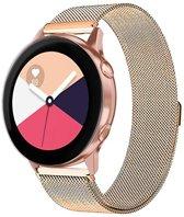 Milanese Loop Armband Voor Samsung Galaxy Watch Active 1/2 40/44 MM - Milanees Horloge Band - Rosegoud Kleurig