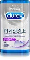 Durex Invisible Extra Dunne Condooms met Extra Glijmiddel - 10 stuks