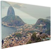 Uitzicht over Rio de Janeiro Glas 120x80 cm - Foto print op Glas (Plexiglas wanddecoratie)