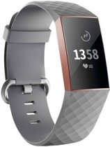 123Watches.nl Fitbit charge 3 sport wafel band - grijs - SM