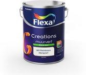 Flexa Creations Muurverf - Extra Mat - Mengkleuren Collectie - Wit Palmboom  - 5 liter