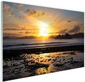 Zonsondergang in Azie  Glas 120x80 cm - Foto print op Glas (Plexiglas wanddecoratie)