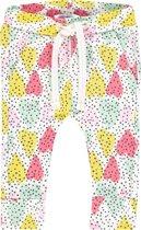 Noppies Meisjes Broek met all over print Pocohontas - Blanc de Blanc - Maat 68