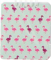 Lg-imports Notitieboekje Flamingo Groen/roze