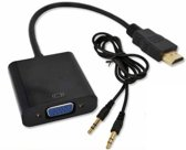HDMI naar VGA Adapter met audio kabel converter voor PC / Laptop