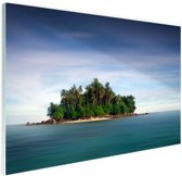 Bosrijk eiland foto Glas 120x80 cm - Foto print op Glas (Plexiglas wanddecoratie)
