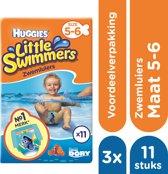 Huggies Little Swimmers Zwemluiers mt 5-6 - 3 x 11 stuks