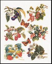 Thea Gouverneur Borduurpakket 3021 Fruitlap - Linnen stof