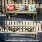 Tuinbank & tafel 2in1 XL (3 tot 6 personen)