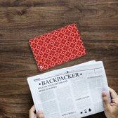 iPad Mini 4 Uniek Tablethoesje Batik Red