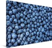 Eindeloze verse blauwe bessen Canvas 60x40 cm - Foto print op Canvas schilderij (Wanddecoratie woonkamer / slaapkamer)