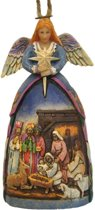 Jim Shore beeldje - Heartwood Creek collectie - Angel Nativity Gown - Hanging Christmas Ornament