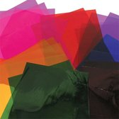 Gekleurde cellofaanvellen - knutselspullen voor kinderen en volwassen om te maken en versieren scrapbooking wenskaarten en knutselwerkjes (36 stuks)