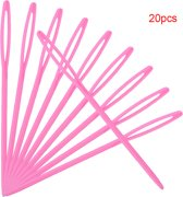 20 plastic naalden (roze) 7 CM groot - NBH®