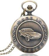 Zakhorloge- MADE IN AMERICA - brons met ketting # 20