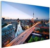 Berlijn stadslandschap met tv-toren Glas 90x60 cm - Foto print op Glas (Plexiglas wanddecoratie)