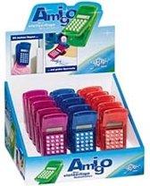 Magneetklem met rekenmachine - in blauw, oranje of lila