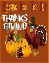 Thanksgiving Coloring Book for kids ( Thanksgiving and Fall )