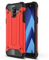 Armor Hybrid Hoesje Samsung Galaxy A6 (2018) - Rood