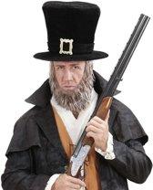 Hoge hoed met baard voor volwassenen - Verkleedhoofddeksel