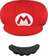 Mario's™ pet en snor voor kinderen - Verkleedhoofddeksel