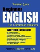 Preston Lee's Beginner English For Lithuanian Speakers