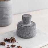Graniet mortier en stamper Spice Crusher Set voor specerijen en kruiden