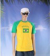 Baseball shirt vlag Brazil L