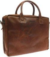 DSTRCT Fletcher Street - Leren Laptoptas - 15,6 inch - Cognac