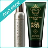 Curasano Spraytan, 200ml + Rick Ross Hair & Body Wash, 250ml