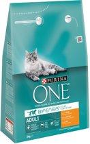 Purina ONE Adult - Kip/Volkoren Granen - Kattenvoer - 3 kg