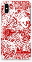 iPhone X | Xs Hardcase Hoesje Design Angel Skull Red
