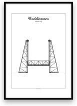 Waddinxveen stadposter - Zwart-wit