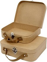 Koffers, afm 22,5x18x6,5 cm, 2 assorti