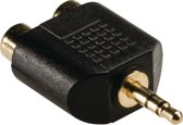 3.5 mm audio adapter 3.5 mm male - 2x RCA female 1 pc grey
