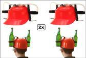 2x Drinkhelm rood
