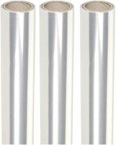 3 rollen transparante folie - 70 x 500 cm per stuk - cadeaupapier inpakfolie