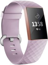 123Watches.nl Fitbit charge 3 sport wafel band - lavendel - SM